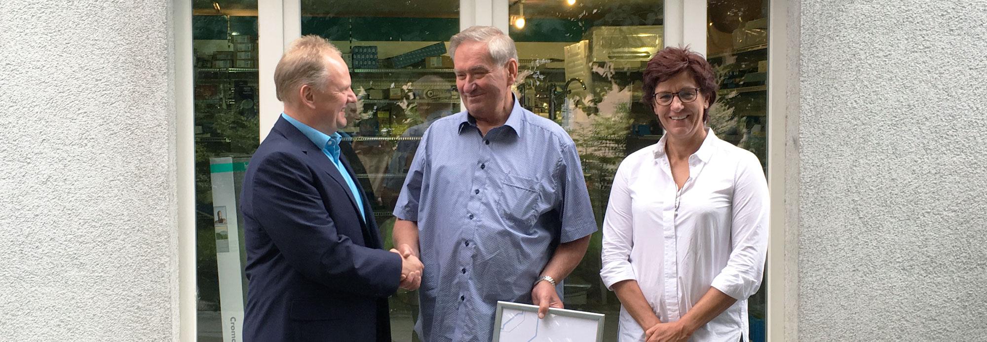 Bernd Neisser feiert sein 50-jähriges Arbeitsjubiläum